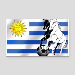 Uruguay Soccer Flag Rectangle Car Magnet