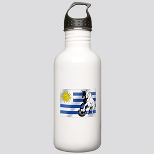 Uruguay Soccer Flag Stainless Water Bottle 1.0L