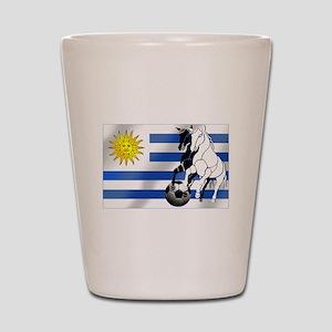 Uruguay Soccer Flag Shot Glass
