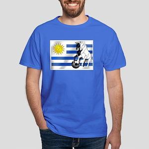 Uruguay Soccer Flag Dark T-Shirt
