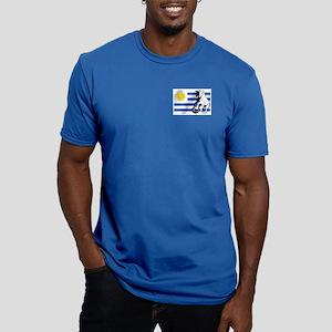 Uruguay Soccer Flag Men's Fitted T-Shirt (dark)