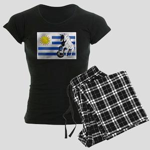 Uruguay Soccer Flag Women's Dark Pajamas