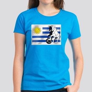 Uruguay Soccer Flag Women's Dark T-Shirt