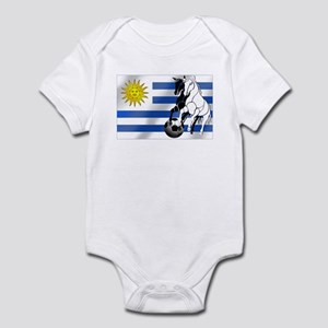Uruguay Soccer Flag Infant Bodysuit