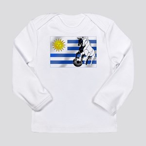 Uruguay Soccer Flag Long Sleeve Infant T-Shirt
