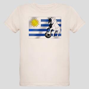 Uruguay Soccer Flag Organic Kids T-Shirt