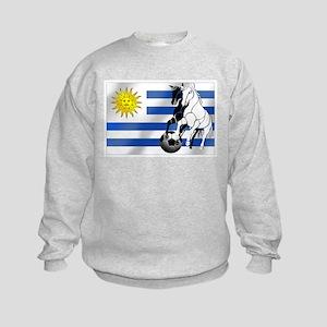 Uruguay Soccer Flag Kids Sweatshirt