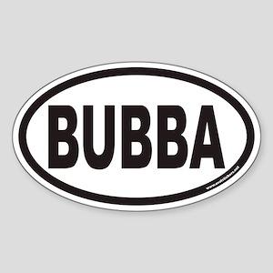 BUBBA Euro Oval Sticker