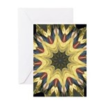 Harp on Fire Greeting Cards