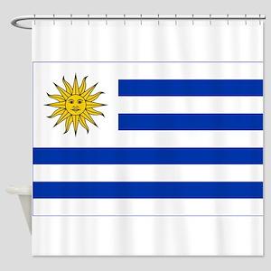Flag of Uruguay Shower Curtain