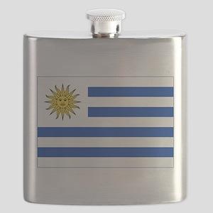 Flag of Uruguay Flask