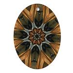 Harp Lines 8 pt Ceramic Oval Ornament