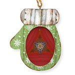 Red Curtain Debut Mitten Ornament
