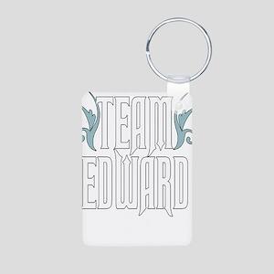 Team Edward Aluminum Photo Keychain