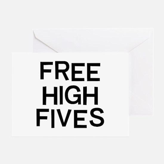Free Fives Greeting Card