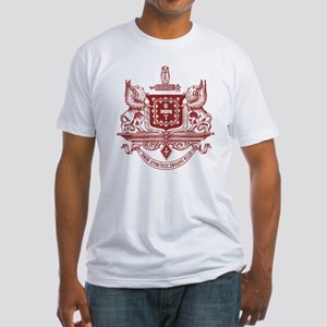 Psi Upsilon Fraternity Crest in Red Fitted T-Shirt