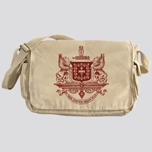Psi Upsilon Fraternity Crest in Red Messenger Bag