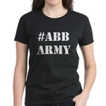 #ABBarmy (stacked STENCIL white lettering) T-Shirt