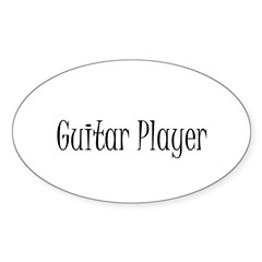 Guitar Player Oval Decal