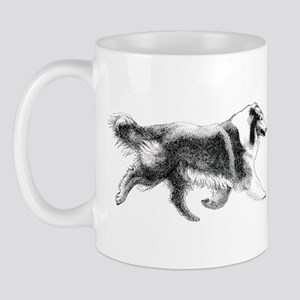 Running Collie Mug
