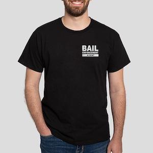 Gray Bail Enforcement Agent Letters on Black Shirt