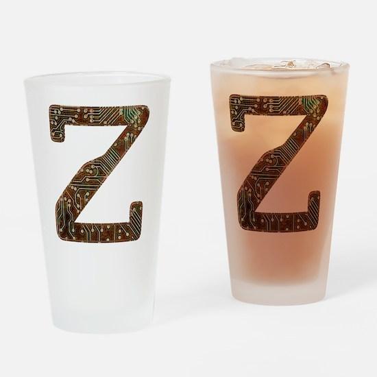 Z Circuit Drinking Glass