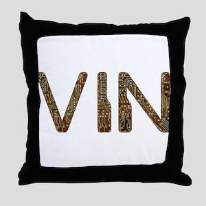 Vin Circuit Throw Pillow
