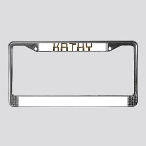Kathy Circuit License Plate Frame