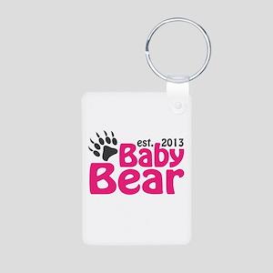 Baby Bear Claw Est 2013 Aluminum Photo Keychain