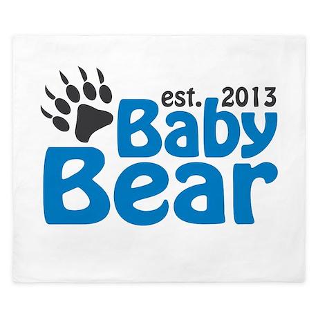 Baby Bear Claw Est 2013 King Duvet
