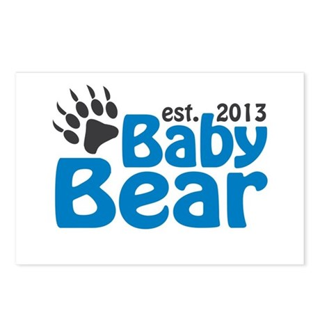 Baby Bear Claw Est 2013 Postcards (Package of 8)