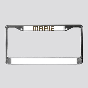 Marie Circuit License Plate Frame