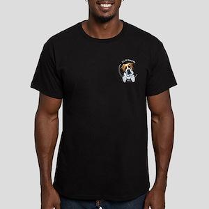 Pocket St Bernard IAAM Men's Fitted T-Shirt (dark)