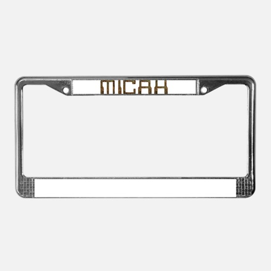 Micah Circuit License Plate Frame