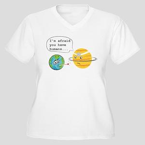 Humans... Women's Plus Size V-Neck T-Shirt