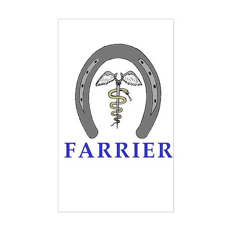 Farrier Caduceus Rectangle Sticker