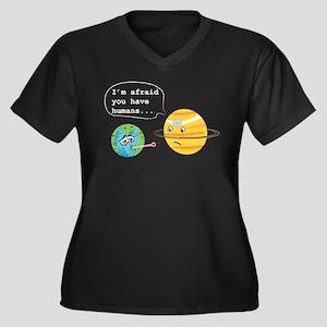 Humans... Women's Plus Size V-Neck Dark T-Shirt