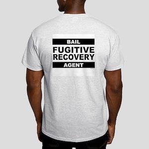 Black Fugitive Recovery Logo on Ash Grey T-Shirt
