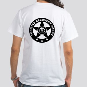 Fugitive Recovery Agent Logo on White T-Shirt