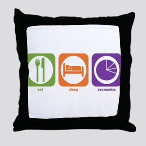 Eat Sleep Economics Throw Pillow