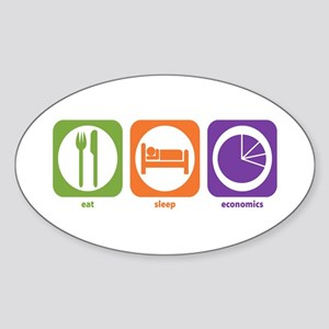 Eat Sleep Economics Oval Sticker
