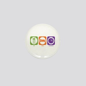 Eat Sleep Economics Mini Button