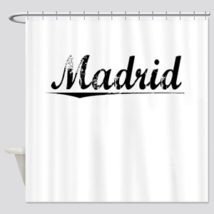 Madrid, Vintage Shower Curtain