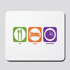Eat Sleep Economics Mousepad
