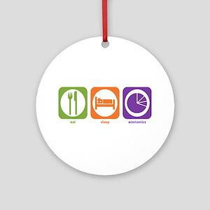 Eat Sleep Economics Ornament (Round)