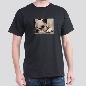 French Bulldog laying Black T-Shirt