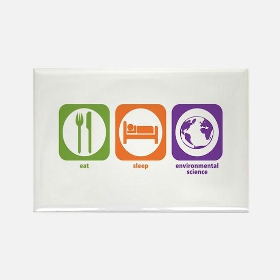 Eat Sleep Environmental Rectangle Magnet