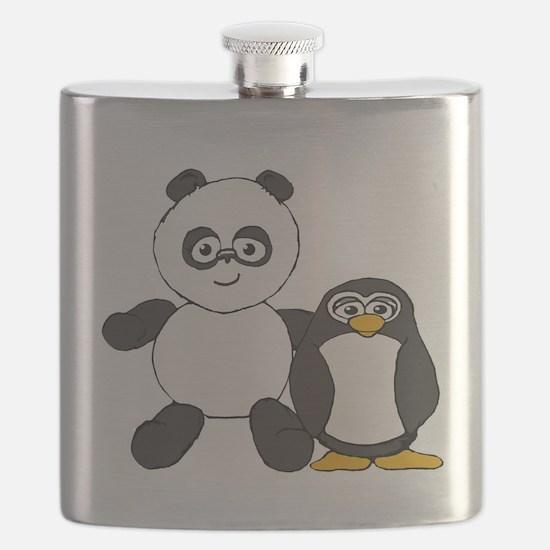 Panda and penguin Flask