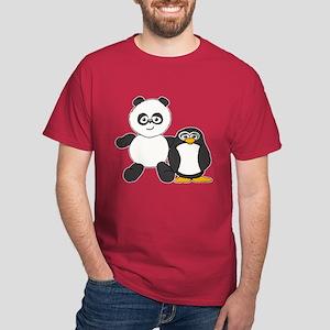 Panda and penguin Dark T-Shirt