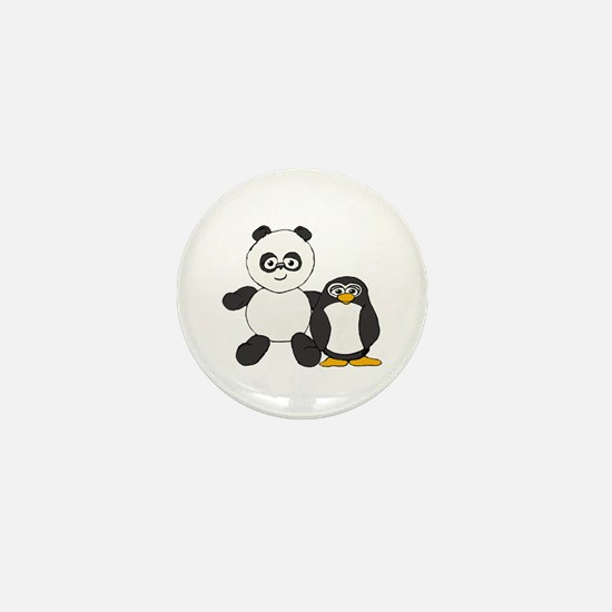 Panda and penguin Mini Button